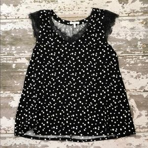 Maurices Black & White Polka Dot Blouse